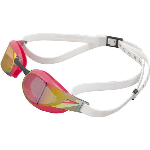 Fastskin Elite Mirror Racing Goggle - White/Psycho Red/Red