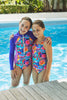 Girls Paddle Suit - Primitive Flower