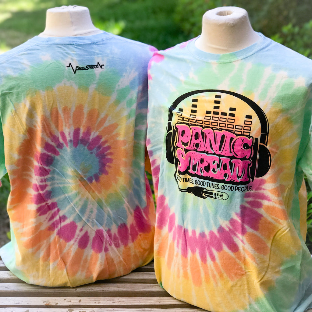 PanicStream Retro Tie Dyed T-Shirt