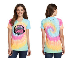 PanicStream Retro Tie Dyed Ladies V-Neck