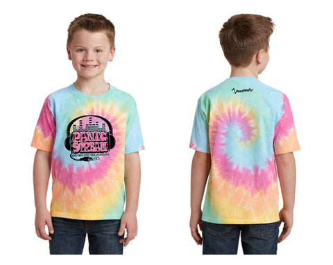 PanicStream Retro Tie Dyed Youth T-Shirt