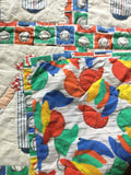 """Baseball Boys"" Small Quilt 1990's"