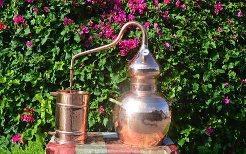 5 gallon copper still assembled
