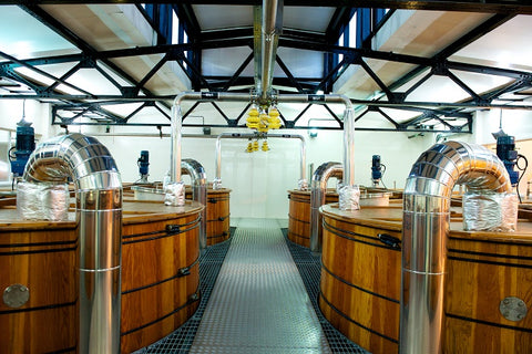 Commercial distillery fermentation chamber