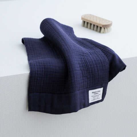 Shinto towel. Japan Inner Pile face towel- navy