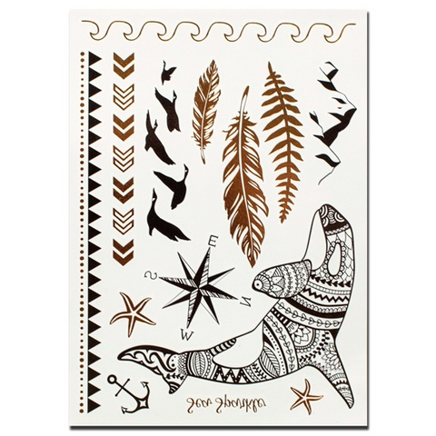 Sea Breeze - Metallic Temporary Tattoos