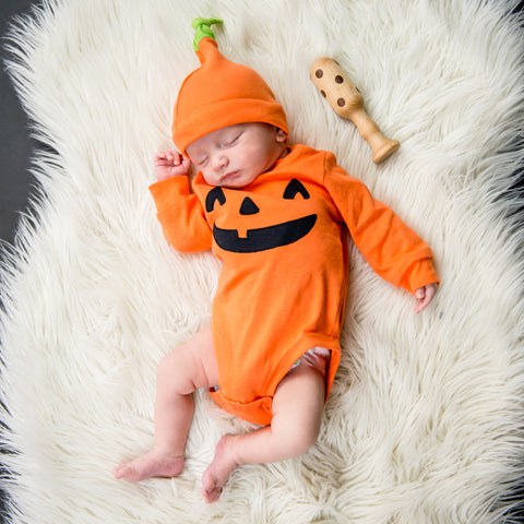 pumpkin costume - halloween - age blocks