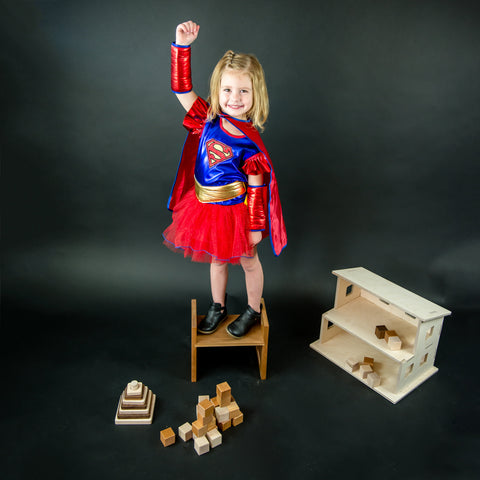 supergirl - dollhouse - wooden toy