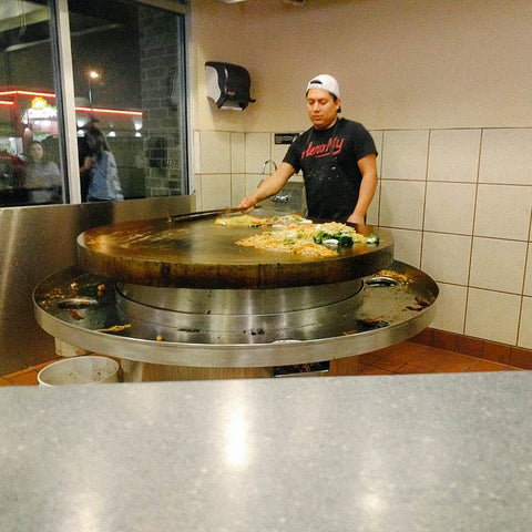 mongolian bbq - chef - team dinner - springville utah