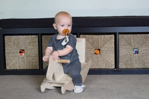rocking horse - baby - wooden riding toy