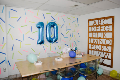 10th birthday party - sprinkle party - donut