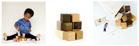 blocks - plain - minimalist gift - wooden blocks
