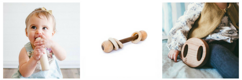 wooden rattle - rattle - wooden toy - handmade
