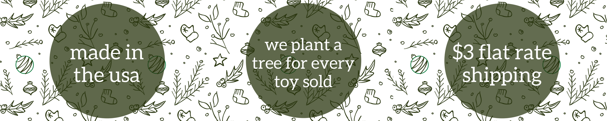 Christmas ordering information for Little Sapling Toys