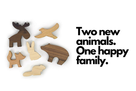 woodland animals - wooden toys - wood