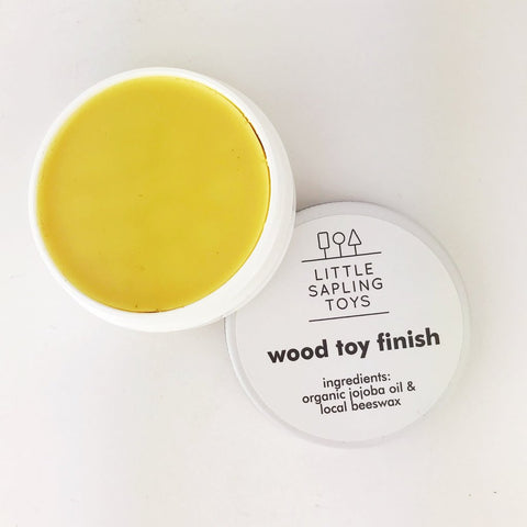 wood toy care - beeswax - toy care kit - wooden toy finish