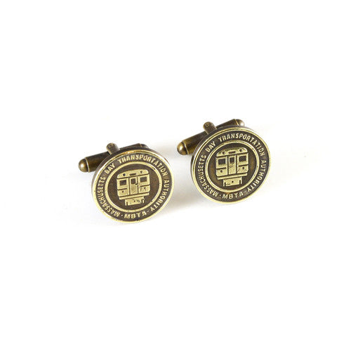 Boston Transit Token Cuff Links