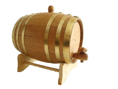 Brass Branded Spirits Barrel