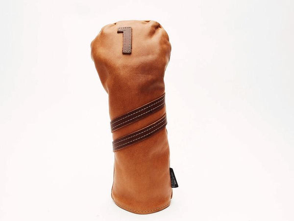 Americana Edition leather golf Headcover in Tan