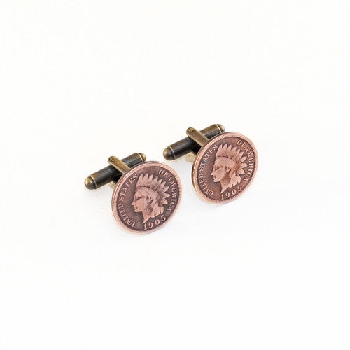 Indian Head Cent Cuff Links