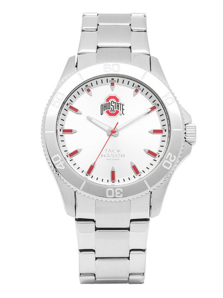 Ohio State Men's Silver Dial Sport Bracelet Watch