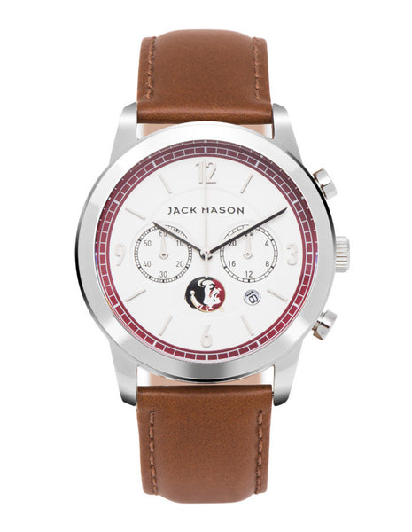 Florida State Leather Chronograph Watch
