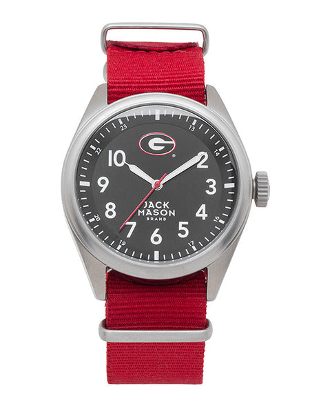 Georgia Bulldogs - Solid NATO Strap Watch