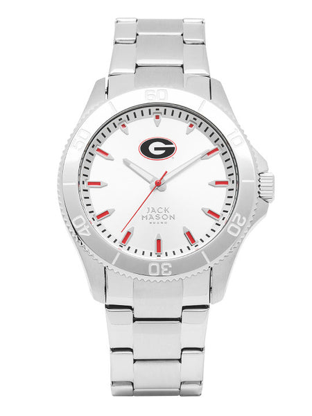 Georgia Bulldogs - Silver Dial Sports Watch