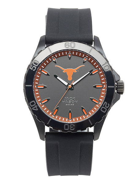 Texas Longhorns - Blackout Silicone Strap Watch