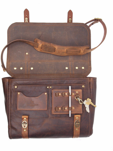 The Magazin Satchel - Chocolate