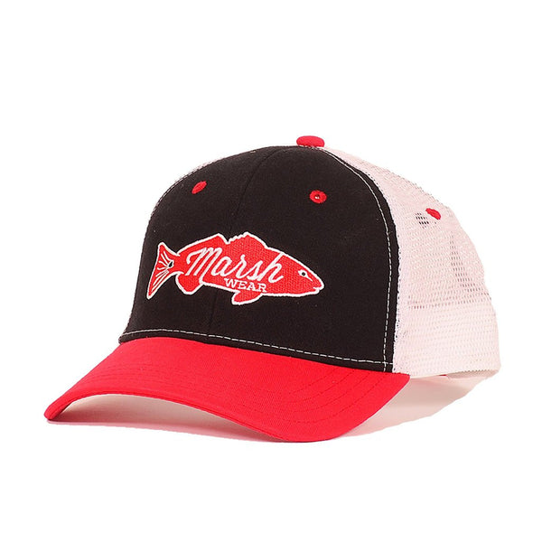 The 'Tailgater' Trucker Hat - Bulldog Red & Black