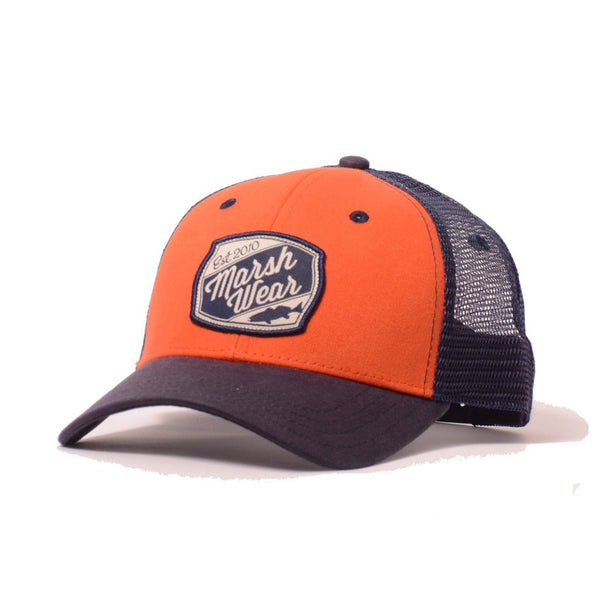 Trout Patch Trucker - Burnt Orange & Marine Navy