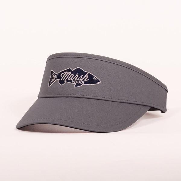 Retro Redfish Visor - Squall Grey