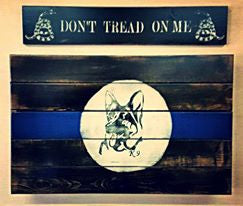 K-9 Thin Blue Line - Concealment Flag (Hidden Compartment)