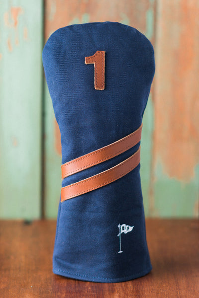 Invitational Edition Waxed Canvas Golf Headcover - Navy