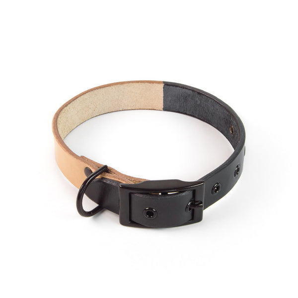 DUOTONE DOG COLLAR (BLACK)