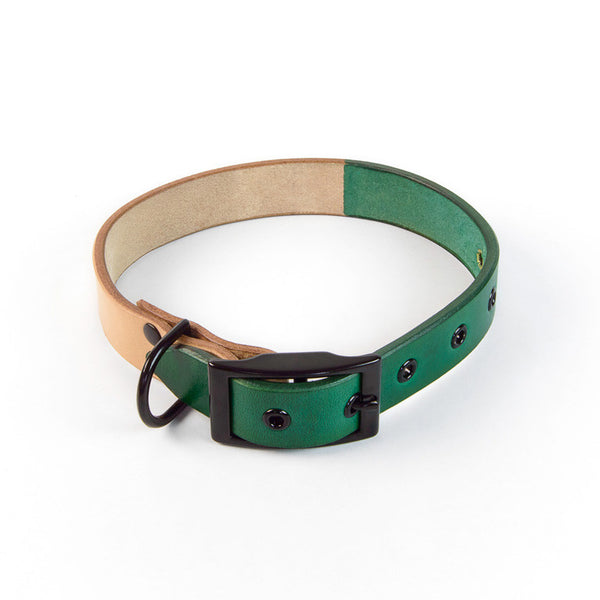 DUOTONE DOG COLLAR (GREEN)