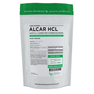 Acetyl L-Carnitine HCL (ALCAR) Powder - Pure Powder - Wholesale Prices - NexGen Performance