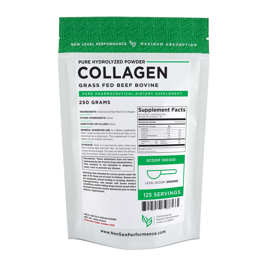 Collagen Protein Powder - Hydrolyzed Beef Bovine - Wholesale Prices - NexGen Performance