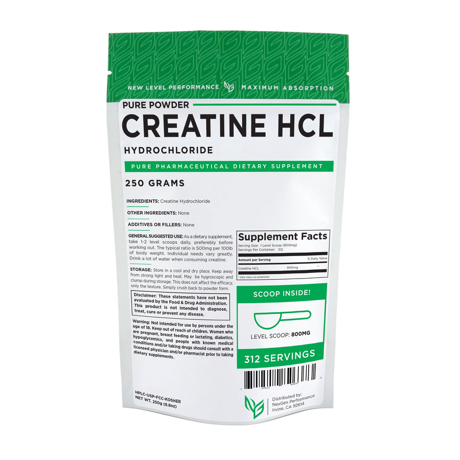 Creatine HCL Powder - Pure Powder - Wholesale Prices - NexGen Performance