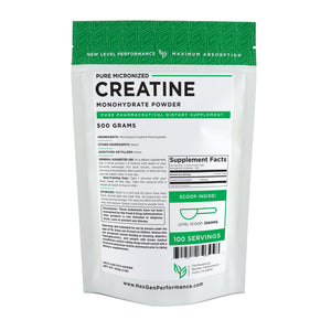 Creatine Monohydrate Powder - Pure Micronized Powder - NexGen Performance