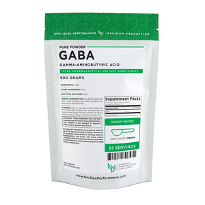 GABA Powder (Gamma-Aminobutyric Acid) - Pure Powder - NexGen Performance