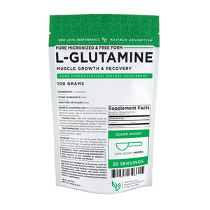 L-Glutamine Powder - Wholesale Price - Muscle Recovery - Leaky Gut Recovery - Free Form - NexGen Performance