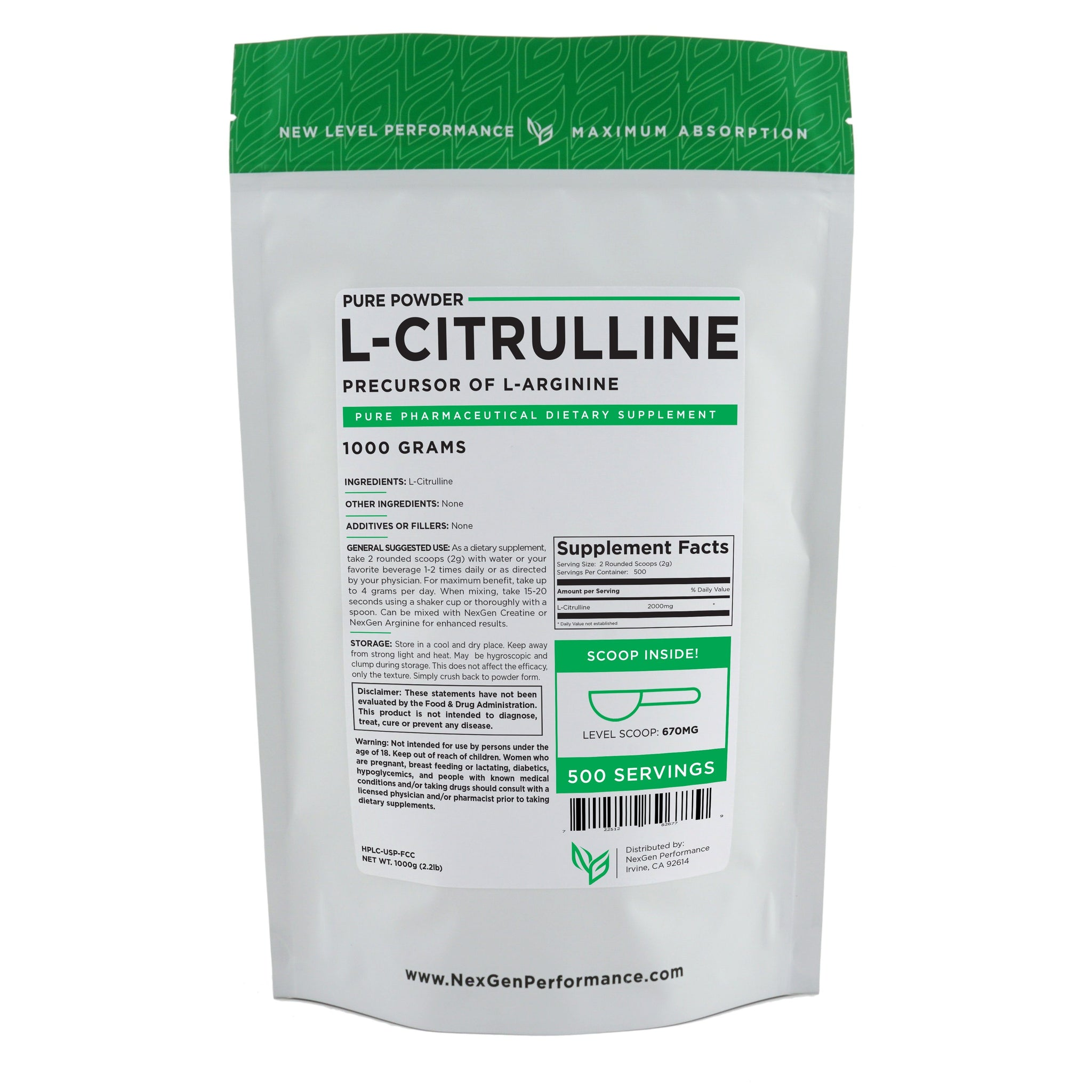 L Citrulline Powder Nitric Oxide Boosters Pure Powder Wholesale Prices Nexgen Performance