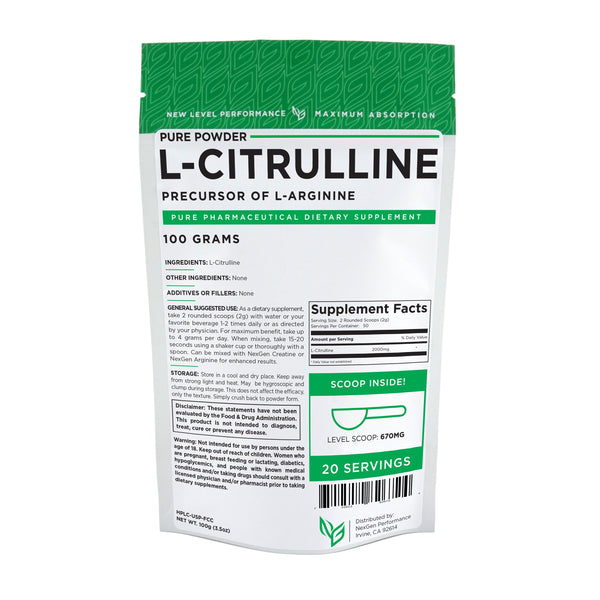 L-Citrulline Powder Nitric Oxide Boosters - Pure Powder - Wholesale Prices - NexGen Performance