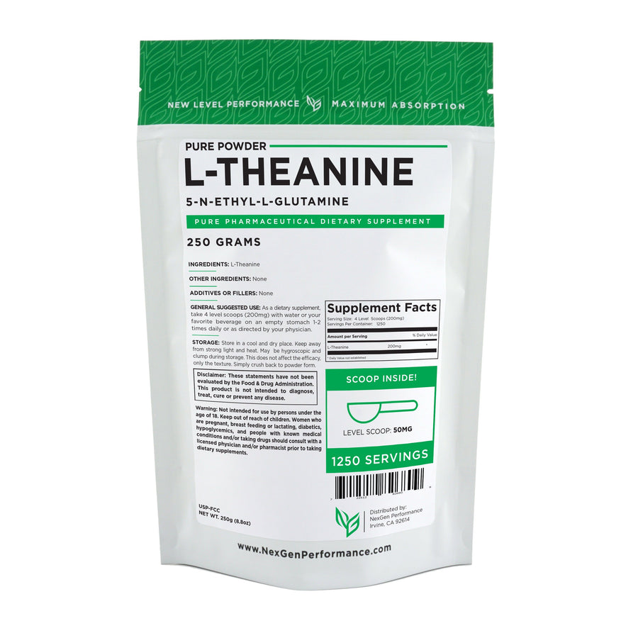 L-Theanine Powder - Pure Powder - Wholesale Prices - NexGen Performance