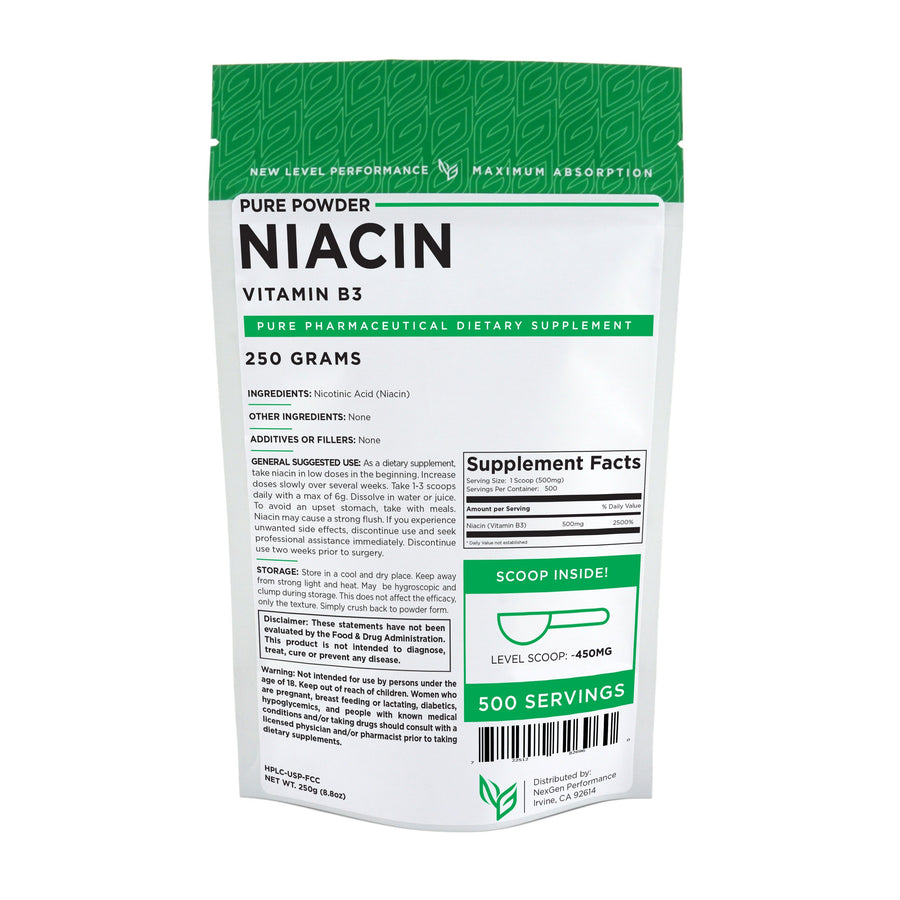 Niacin (Vitamin B3) Powder - Wholesale Prices - NexGen Performance