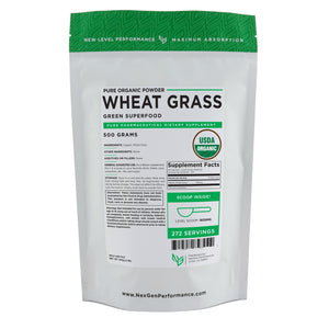 Organic Wheat Grass Powder - Superfood - Vegan - NonGMO - Wholesale Prices - NexGen Performance