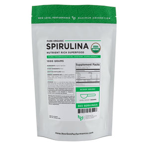 Organic Spirulina Powder - USDA - Pure Powder - NexGen Performance