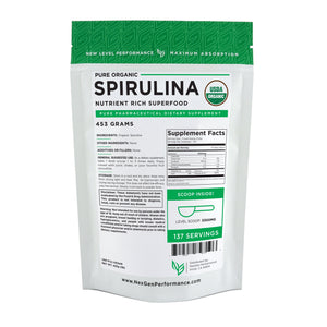 Organic Spirulina Powder - USDA - Pure Powder - Wholesale Prices! - NexGen Performance